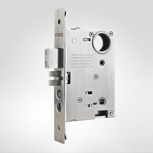 美标锁体     别墅门锁82系列锁体采用机械结构简单