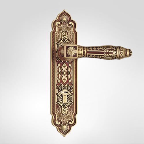 古典欧式面板执手铜锁