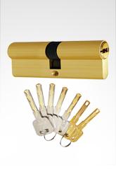 C级锁芯双叶片结构双开锁芯