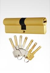 C级锁芯双叶片弹珠结构锁芯