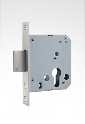 55mm不锈钢单方舌插芯锁体
