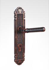 古典欧式面板执手铜锁 26B98