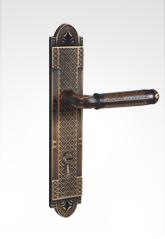 古典欧式面板执手铜锁 26B96