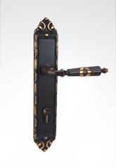 古典欧式面板执手铜锁 26B09