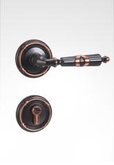 分体装饰盖插芯铜锁 22B09