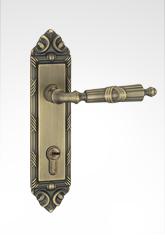 古典小面板执手铜锁 29B09