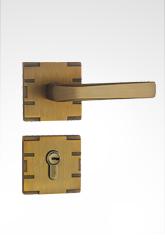 分体装饰盖插芯铜锁 22B02