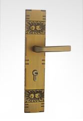 古典欧式面板执手铜锁 26B02