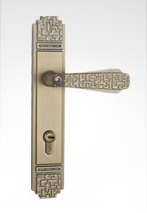 古典欧式面板执手铜锁 26B06