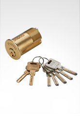 美标锁芯, 叶片弹珠匙锁芯,