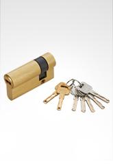 C级防盗 双叶片匙单边锁芯