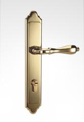 古典欧式面板执手铜锁 26B81
